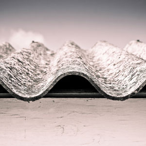 Asbestos on roofing materials